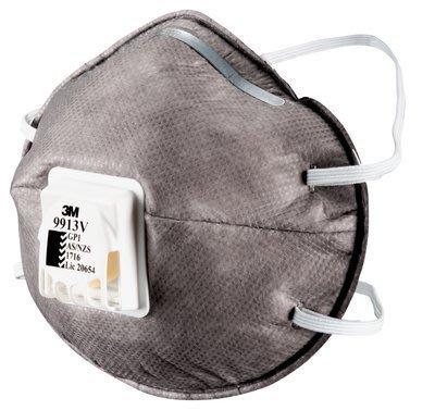 3M 9913V GP1 口罩 -  帶閥 碗型 活性碳 粉塵 AS/NZS 9913 9914 PM2.5 - 10入
