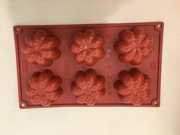 *愛焙烘焙* PAVONI 矽膠模 花型 78*h36mm 6連 PV FR077 蛋糕 慕斯 冷凍 烘烤 抗菌
