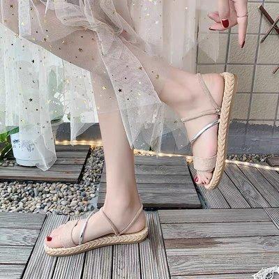 米色涼拖鞋43號 大碼 女鞋