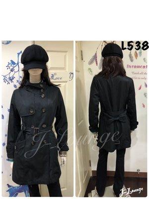 L538 全新日本專櫃Freude 立領腰綁帶長版雙排扣經典風衣trench coat J-Lounge