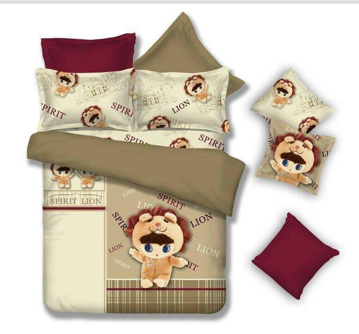 夏季床包組~卡哇伊蜜絲絨單人床包枕套二件組~【芃云生活館】