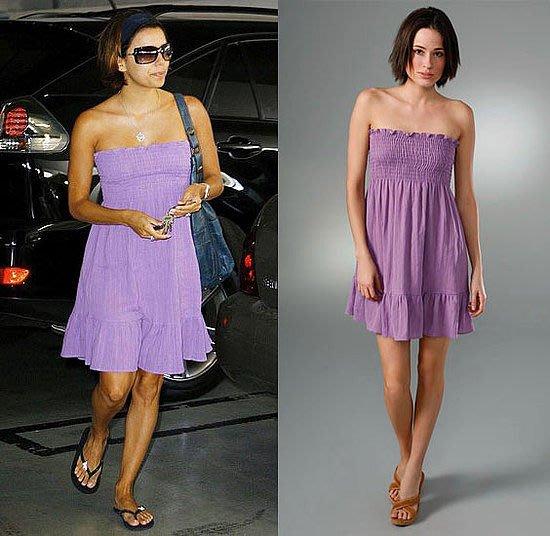 1999起標Juicy Couture Felicity Floral  Solid Beach Smocked Cover up Dress復古印花縮口平口洋裝送紙袋
