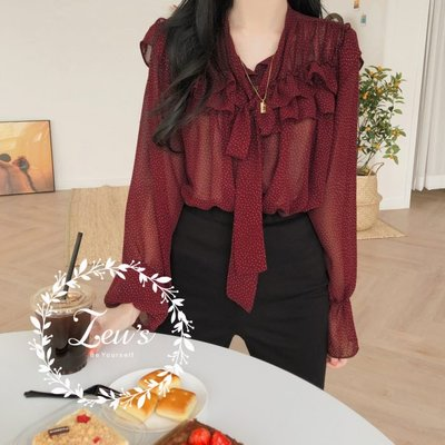 【ZEU'S】韓國春夏新款休閒雪紡襯衫『 03219605 』【現+預】CA