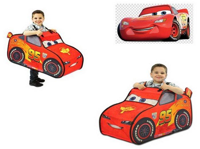 出口歐美CARS汽車總動員麥坤造型款小小汽車駕駛員遊戲帳篷(3歲以上適用)萬聖節Party也適用哦~