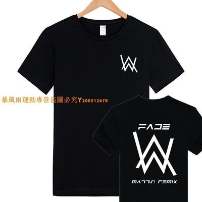2021新款!艾倫沃克DJ短袖T恤AlanWalkerT-Shirt同款Faded電音夏季男女潮-LK174402