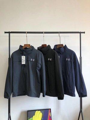 UA可拆卸三合一兩件套衝鋒衣 顏色:黑色、灰色、藍色