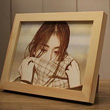 彩色雕刻照片客製化送相框,情人節,生日,紀念日,畢業