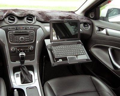 軌道式 車用筆電架_夾具式托盤 ALPHA100N / 車內筆電架 車用桌 車用工作台-ErgoMap人因地圖