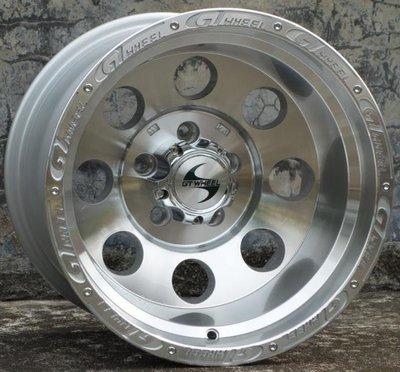 GT品牌4X4精品JIMNY吉米專用鋁圈16吋 5孔139.7 8~10J ET-20/-44 中心孔110銀銑字