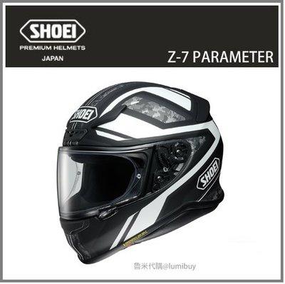 【現貨】日本直送 SHOEI Z-7 Z7 PARAMETER TC-5 彩繪 全罩式 安全帽 重機 機車 (白/黑)