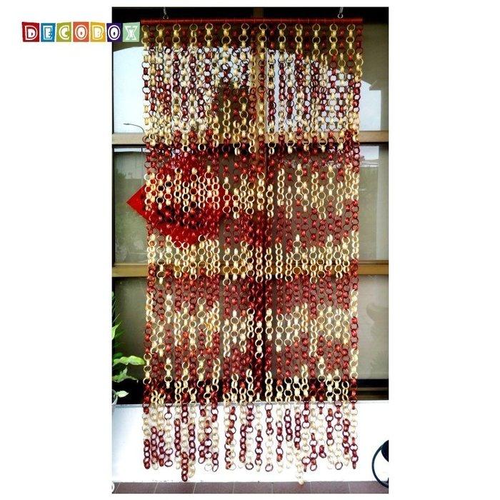 DecoBox日式鄉村風雙色竹圈簾(90*200)(隔間用品.窗簾.門簾.和風竹門簾)