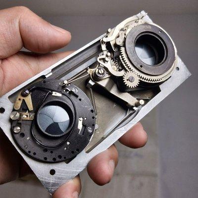 百寶軒 古董美國1940年代REVERE立體相機鏡頭配件快門工作9品 ZG1804