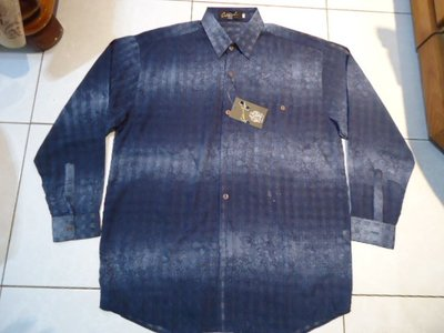 Colonel 藍色長袖印花薄型休閒衫,55%棉 Size:50,全新標籤未剪,特價大出清