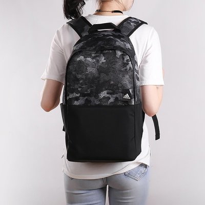 ADIDAS 愛迪達 黑灰 黑色 迷彩 拼接 雙肩 運動 健身 書包 背包 有側袋 CG0523 請先詢問庫存