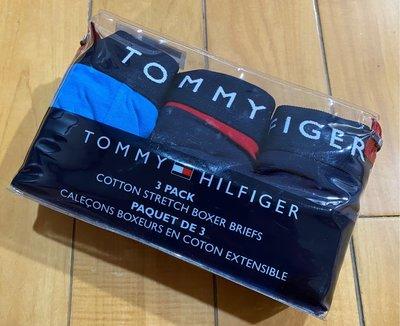 【空姐寶貝】 美國最夯品牌 TOMMY HILFIGER COTTON BOXER BRIEFS 四角內褲 M號 黑紅條紋