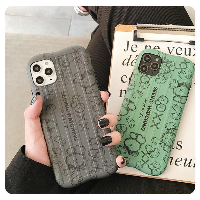 FuNFang_芝麻街Kaws行李箱紋全包手機殼 手機軟殼iphone 11 Pro Max X XS XR 78
