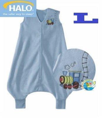 X.H. Baby【美國 HALO】SleepSack Early Walker 防踢被 背心 睡袋 秋冬刷毛 藍色火車
