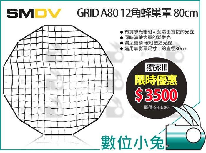 數位小兔【SMDV 獨家限時優惠 80cm 蜂巢罩】BRIHT-360 專用 A80 12角 快收罩 無影罩 公司貨