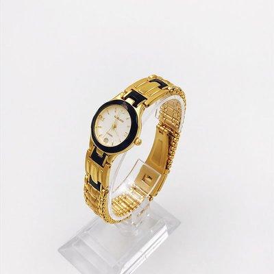 薇安手錶集市~Garland鋼帶日歷規格奢華精致庫存高貴手錶石英錶女
