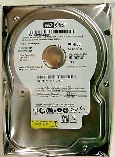 保固1年【小劉硬碟批發】全新庫存有靜電袋WD Hitachi Seagate 3.5吋80G SATA7200轉電腦硬碟
