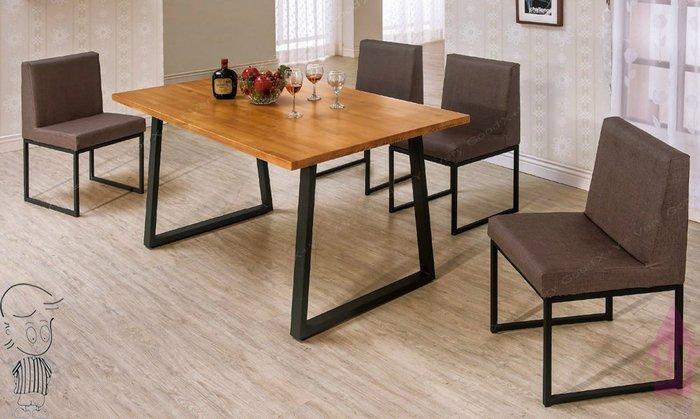 【X+Y時尚精品傢俱】現代餐桌椅系列-威爾斯 5尺實木面黑腳餐桌不含餐椅.簡約風.摩登家具