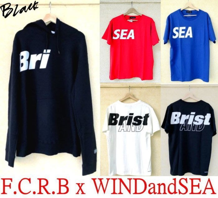 BLACK全新F.C.R.B x WIND AND SEA跨界聯名FCRB字體SOPH短T (另有套裝/短褲/帽T)