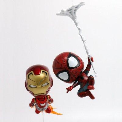 【紫色風鈴】英雄歸來 鋼鐵人Spider-Man 返校季 蜘蛛人盒裝公仔擺件 港版