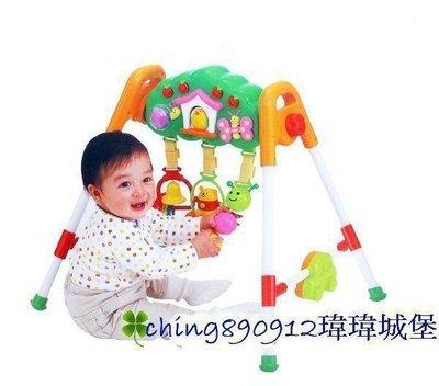 ♪♫瑋瑋城堡✲玩具出租♪♫ (二手出售)Combi 蘋果樹音樂健力架(功能正常.約8成新)