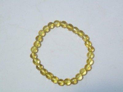 天使熊小鋪~頂級水晶 鑽石切割面 黃水晶手環