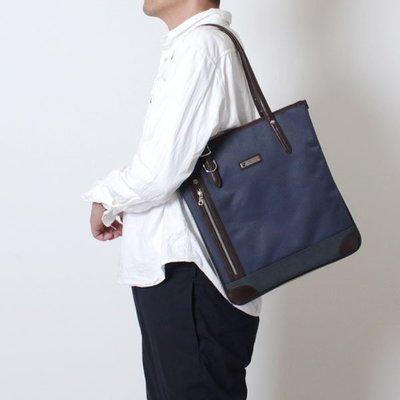 日本 PRO-SPERITY 深藍色皮革 正方 商務 手提袋 ($250 包順豐)