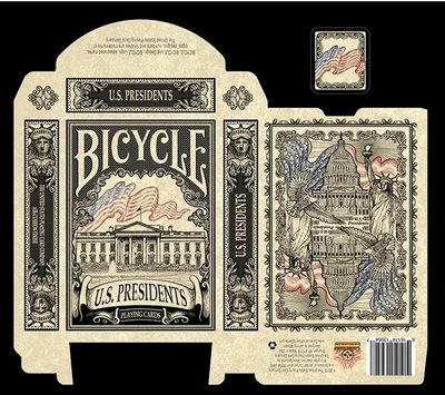 【USPCC撲克】Bicycle us president emboss 美國總統 黑 浮雕牌盒