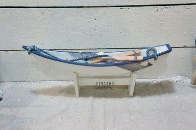 ~*歐室精品傢飾館*~地中海 海洋風 木製 藍白 獨木舟 擺飾 裝飾 船槳 居家 民宿 營業空間 海邊 布置~新款上市~