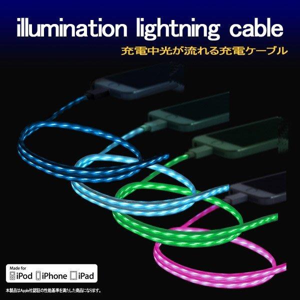尼德斯Nydus~* 日本正版 MFi 蘋果認證 ios LED光 充電線 傳輸線 iPhone6S