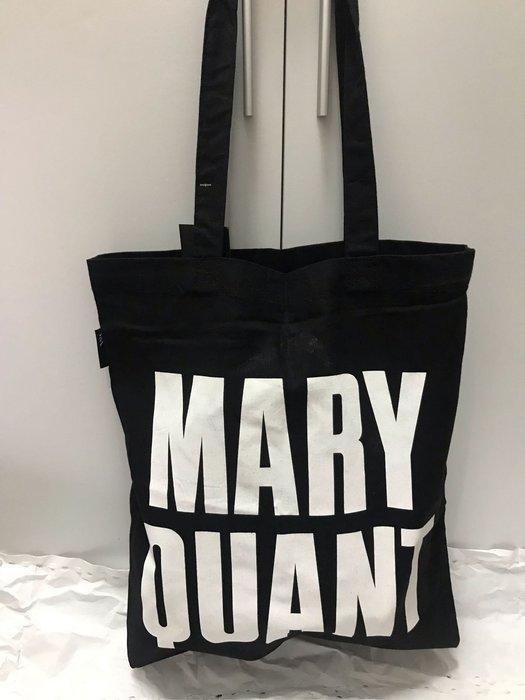 英國製 Mary Quant棉麻環保購物袋 34x40兩面花色如圖 現貨2