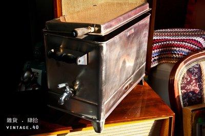 【古物箱】早期 醫院 診所 醫療用  電熱 蒸氣 白鐵 不鏽鋼 消毒箱 (古早 骨董 古董)