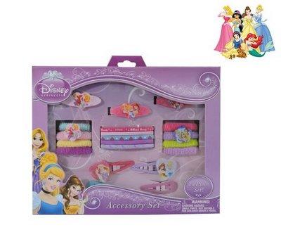 DISNEY迪士尼公主系列髮夾+髮束20件組(3歲以上適用)公主配件特價150元/盒