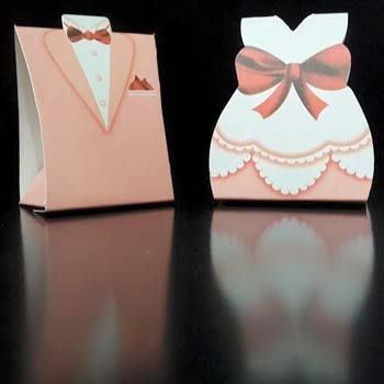 新郎新娘禮服喜糖盒2入1組