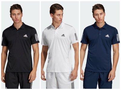 【豬豬老闆】ADIDAS POLO衫 短袖 休閒 運動 網球 訓練 男款 黑DU0848 白DU0849 藍DU0850