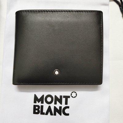 嚴選精品 Montblanc 萬寶龍 名片夾/ 信用卡夾 真皮錢包 西裝薄款皮夾  3804短夾 帶零錢包 送禮佳品