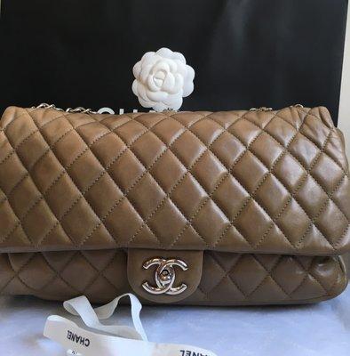 Chanel 單蓋限量款包(#穿著雨衣的jumbo 三用包;大35cm)