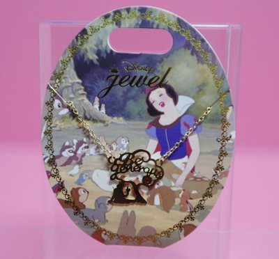【Dona日貨】日本迪士尼store限定 白雪公主樂於助人紅色水鑽 Be generous 項鍊/飾品 A23