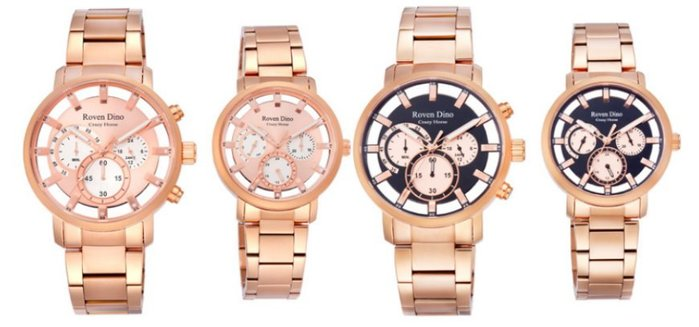 【幸福媽咪】Roven Dino 羅梵迪諾 公司貨 鏤空_男女對錶 RD6073MRG(男錶)RD6073LRG(女錶)