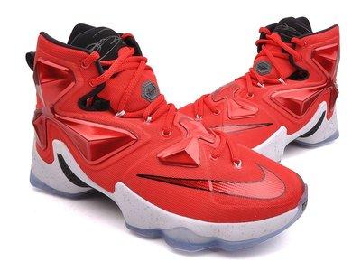 =CodE= NIKE LEBRON XIII EP ON COURT 籃球鞋(紅白黑)807220-600 男.SAL