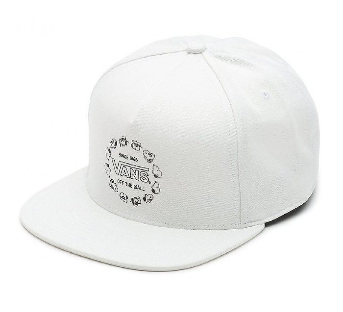 { POISON } VANS x PEANUTS JOCKEY HAT SNOOPY 刺繡老帽 後扣棒球帽 白