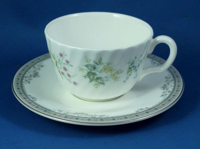 [美]英國百年名瓷MINTON骨瓷茶杯/咖啡杯二用杯盤組SPRING VALLEY+YORK