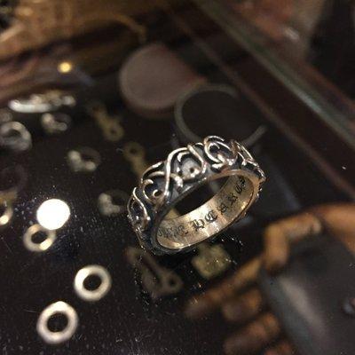 造夢師 手工製作【Chrome Hearts】【復刻】Eternity vine band 永恆藤蔓 925純銀 戒指