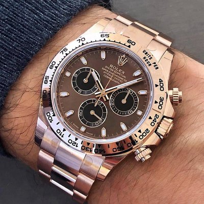 Rolex [2019 NEW MODEL] Daytona 116505 Chocolate Dial Rose Gold Watch