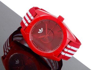 現貨【adidas - ADH 2661】100%全新正品 輕量化 運動型 名錶 手錶 / 紅色【防水50米】29g