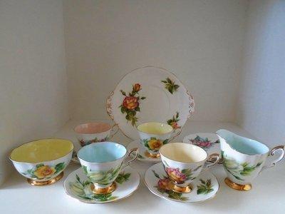 【達那莊園】英國製骨瓷器 Royal Standard皇家標準 Harry Wheatcroft世界著名玫瑰 蛋糕盤