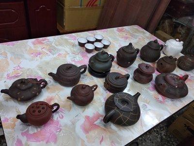 古董收藏 收藏玩家 珍藏品 - 各式茶壼 泡茶壼 紫砂壼 紫砂 整批一起出售排宜賣-B款